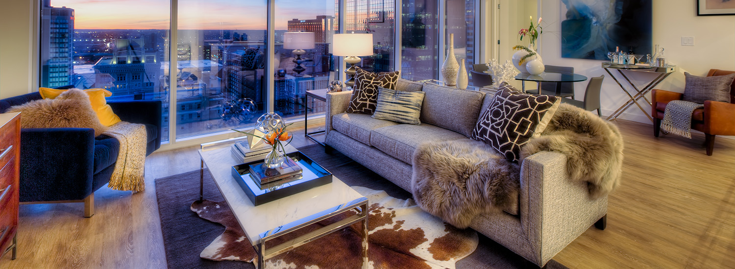 A Penthouse Living Space in One Light Luxury Apartments
