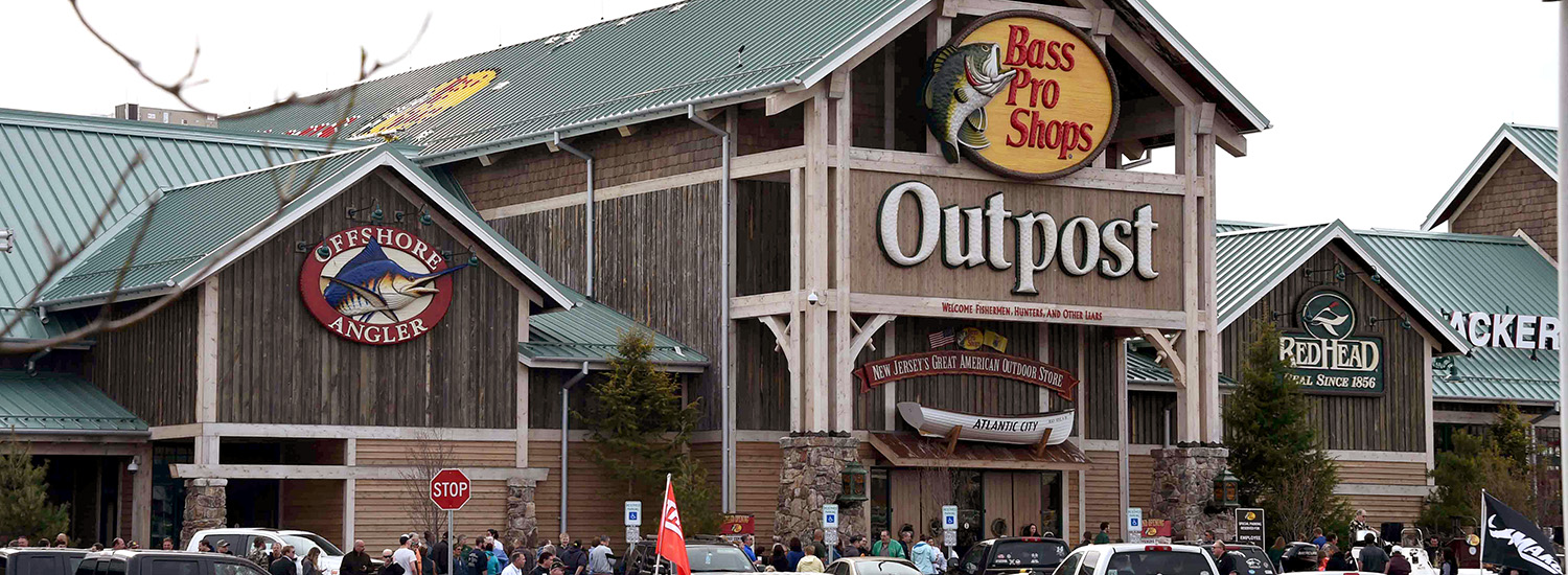 Tanger Outlets The Walk – Front Building of the Bass Pro Shop Outpost